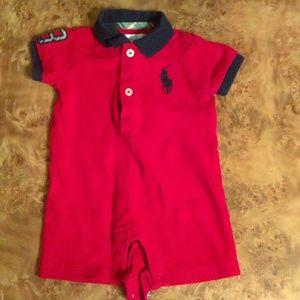 Infants Ralph Lauren shorts/short-sleeve one piece